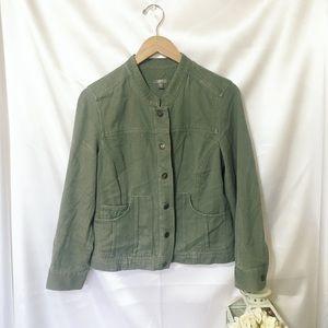 {J Jill} Button Up Utility Jacket